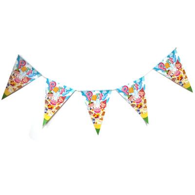 kids birthday party bunting string flag