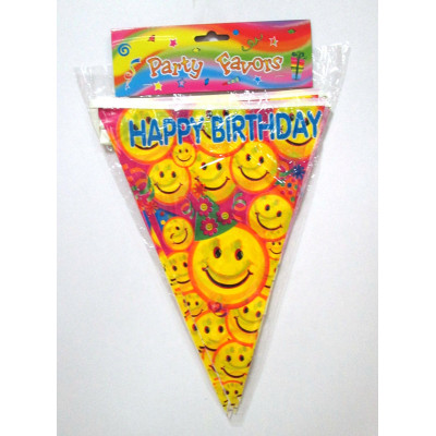 wholesale professional smiling face bunting string flag