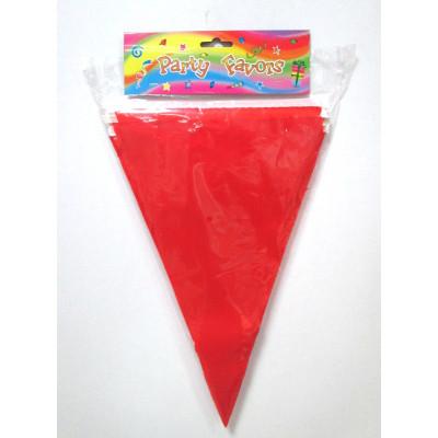 wholesale professional soild red bunting ballon string flag