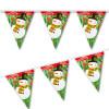 Merry Christmas Snowman plastic hanging string pennant flag