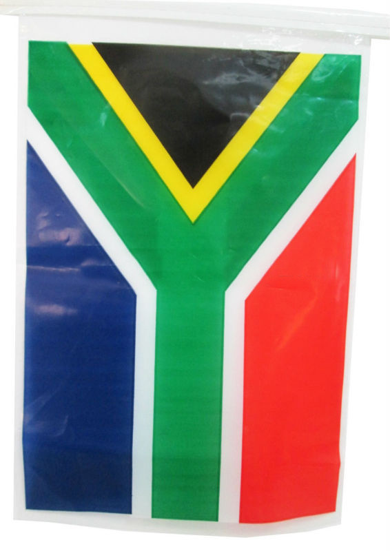 Aouth Africa Plastic Printed National Hanging String Flag