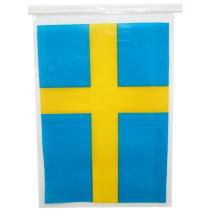 Sweden plastic printed national hanging string Flag