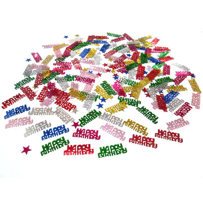 Happy Birthday shape table confetti