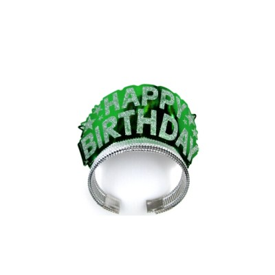 Brilliant green pageant crowns for birthday celebration