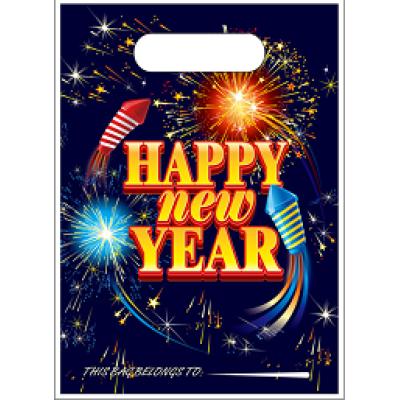 Happy New Year  Plastic PE loot bag