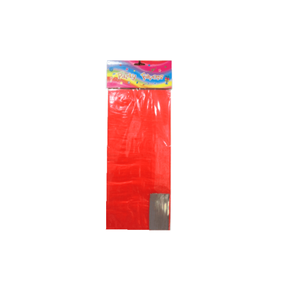 Red transparent stand up opp cello gift bag with paper bottom