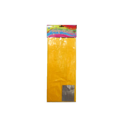 Yellow transparent stand up opp cello gift bag with paper bottom