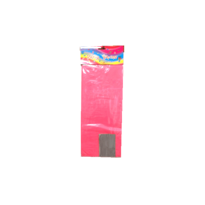 Pink transparent stand up opp cello gift bag with paper bottom