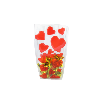 Valentine's Day clear plastic wedding supplier candy cello bags