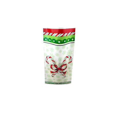 Christmas Gift Candy Plastic Bag Printed Christmas Pattern Cello Bag
