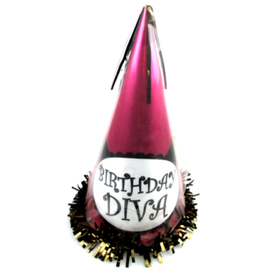 girl pink birthday Cone Hat With Foil