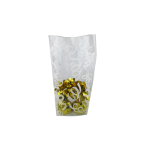 Valentine's Day supplier white decorative pattern candy transparent cello bags