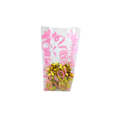 Valentine's Day supplier Decorative pattern candy transparent cello bags