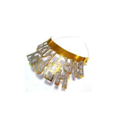Brilliant yellow flash pageant crowns for birthday celebration