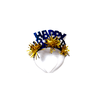 Brilliant blue pageant crowns with for birthday celebration