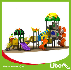 large outdoor playground equipment slide Supplier
