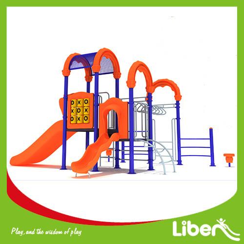 Amusement Preschool children plastic swing and slide set indoor outdoor playground equipment