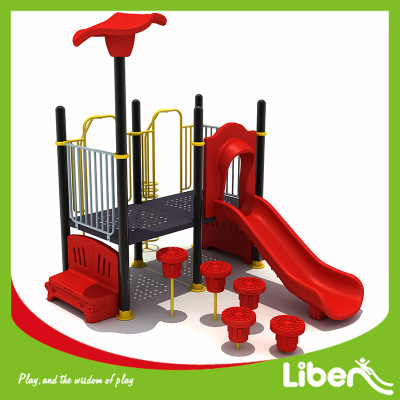 Red Bright Color Playground Kompan Style Kids Playground