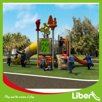 Supplier outdoor playgrounds kids spiral slide