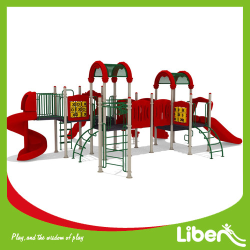 Commericial used outdoor play equipment in park playground