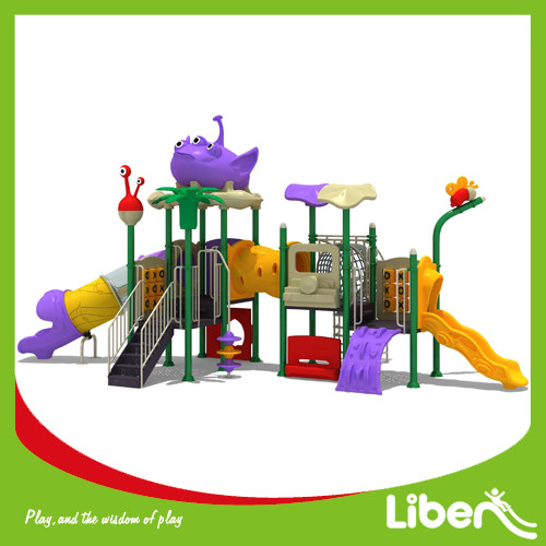 Customized Color Outdoor Plastic Kid's Big Play System in Extra Terrestrial Shape