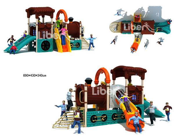 Steam Train Series Children Used Giant Digital Playground Equipment for Sale