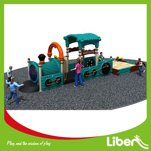 Plastic Outdoor Amusement Park Playground, Outdoor Playground Play House
