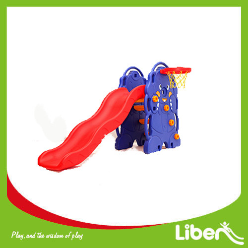Indoor Playground Toddler Plastic Slide with basketball LE.HT.005