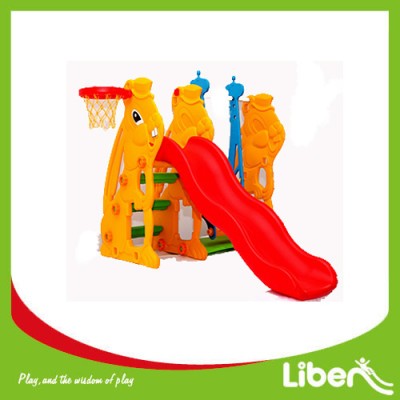 Indoor Playground Toddler Plastic Slide with basketball LE.HT.006