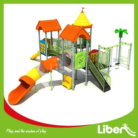 Kids Outdoor Play Gym Supplies With Tube Slide