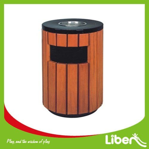 Galvanized Sheet with wood Dustbin Manufacturer&Supplier