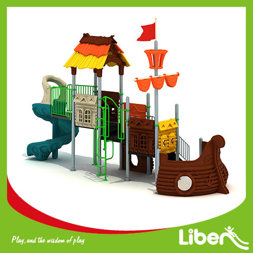 Plastic Playground Material and Outdoor Playground Type lowes playground equipment factory