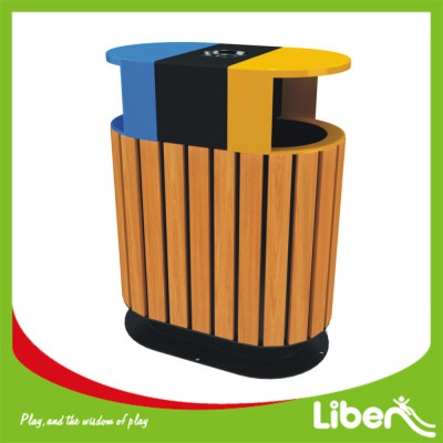 Galvanized Sheet with Wood Dustbin Supplier