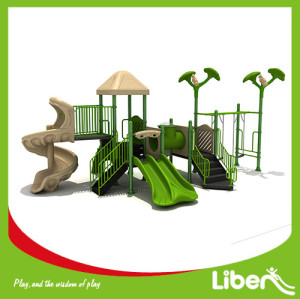 Children Garden Playground Slide Equipment with Children swing