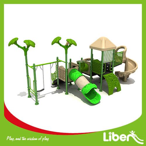 Children Garden Playground Slide Equipment with Children swing