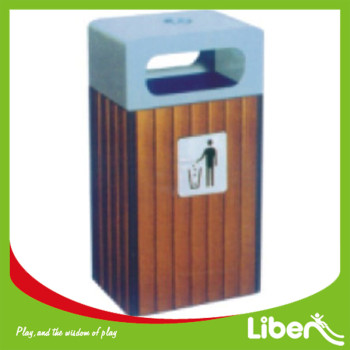Govenrment Project Used Wooden Park Dustbin
