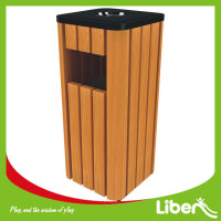 Recycling Wood Trash Can, Dustbin, Outdoor Bin