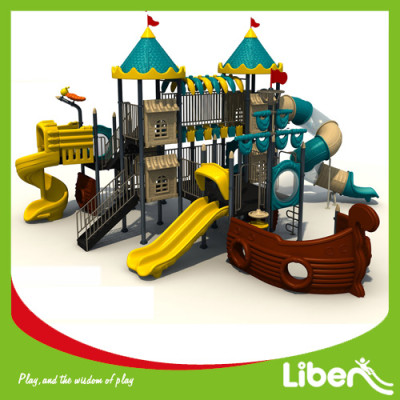 Kids toy outdoor playground with swing amusement equipment