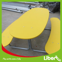 PE Board Outdoor Bench Chair Set