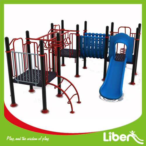 Metal Playground Set Outdoor Kids Backyard Slide Playset