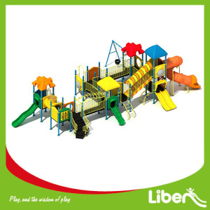 kids plastic slide, outdoor children playground equipment, outdoor playground set