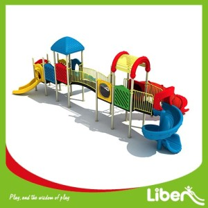 2017 popular children playground slide for toddler children
