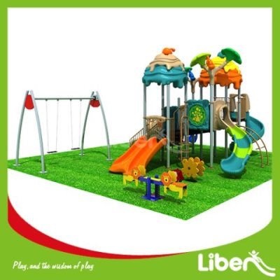 With Swing Commercial Outdoor Play Equipment Factory