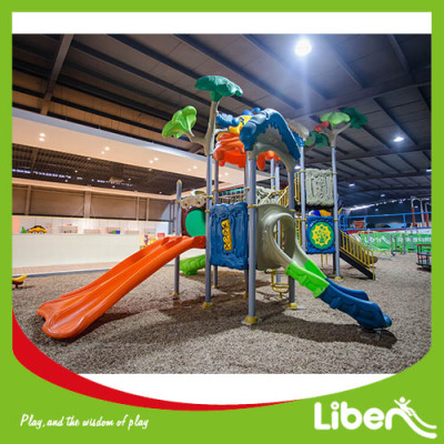 customized high quality outdoor playground equipment with plastic slide