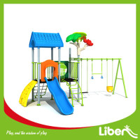 2017 customized high quality Kids Outdoor Playground / Large Plastic Amusement Park