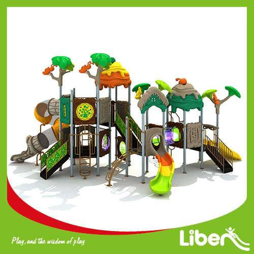 Customized Outdoor Playground Type and Plastic Playground Material Plastic