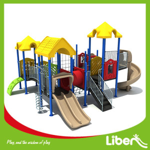 Liben high quality plastic outdoor playground equipment made in China