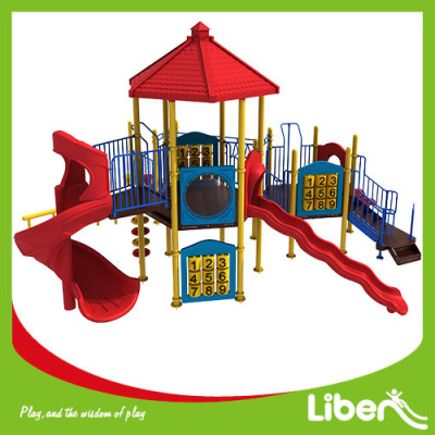 hot sales green Kids Plastic Slide,Outdoor Children Playground ,Outdoor Playground