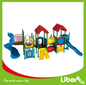 Liben Outdoor fitness playground amusement Play slide playground equipment
