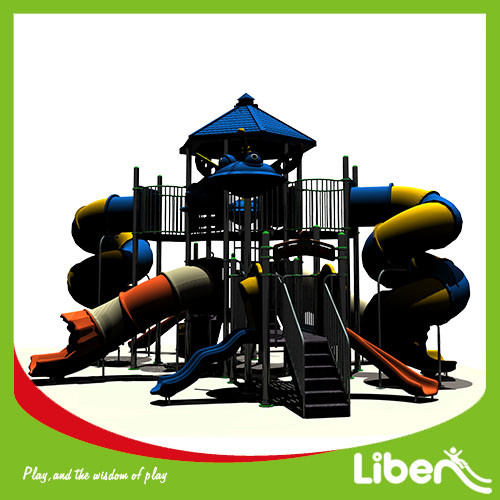 good quality outdoor park Children playground equipment with slide for sale
